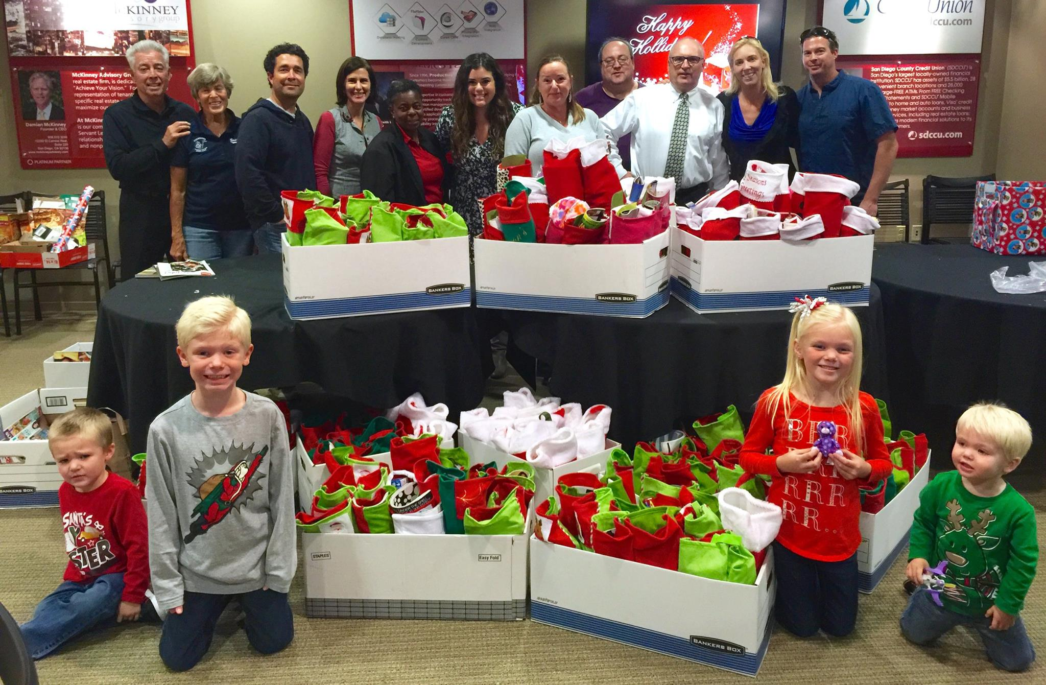 Give back through the Christmas Street Stockings event.