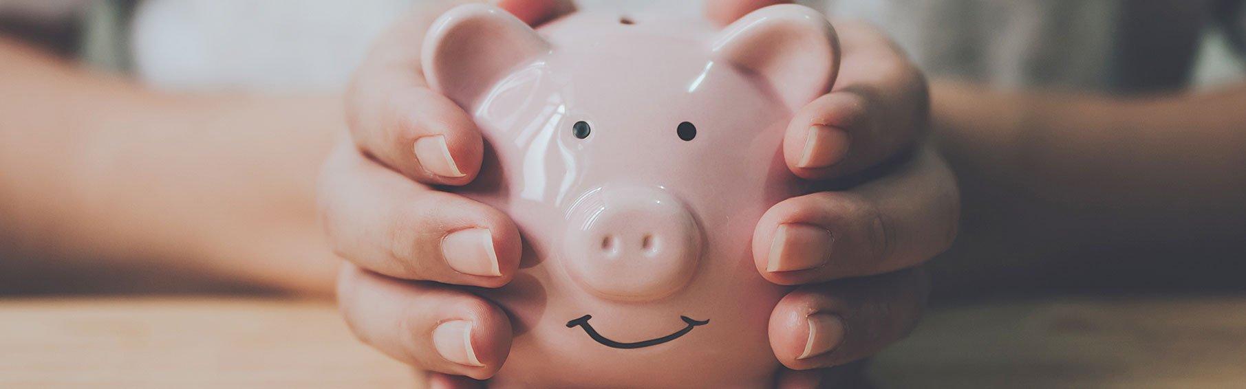 surviving a divorce pink piggy bank